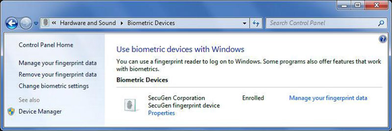 Windows Biometric Framework (WBF)