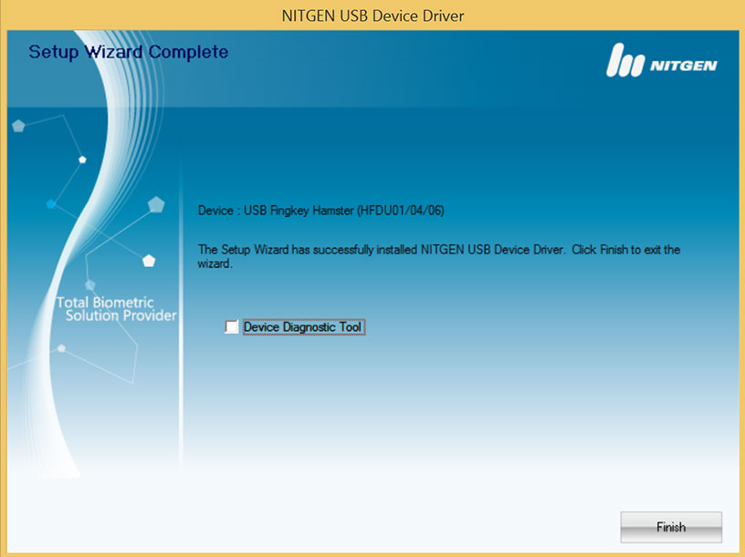 Nitgen Fingerprint Scanner Driver Installation Step 7