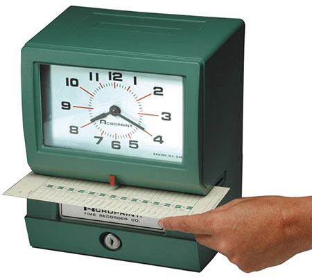 Typical Punch Clock