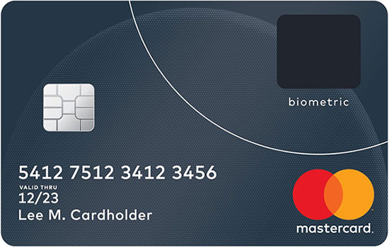 Biometric Credit Card by Mastercard