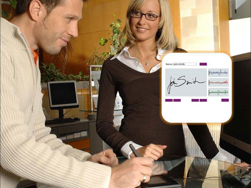 Handwritten Signatures Verified Biometrically