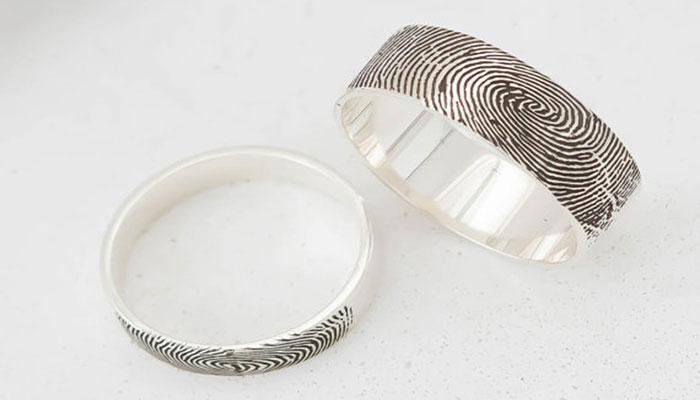 Fingerprint Engraved Ring