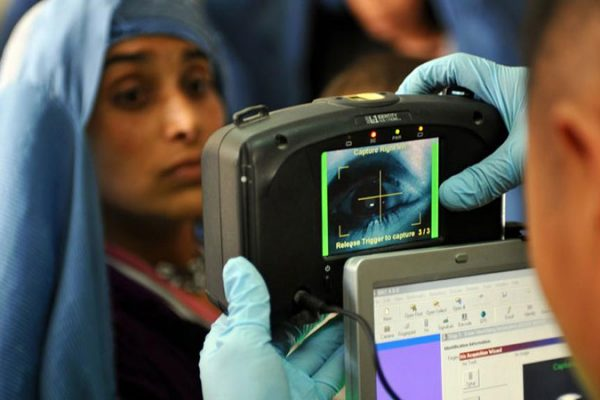 iris scanned for national ID database