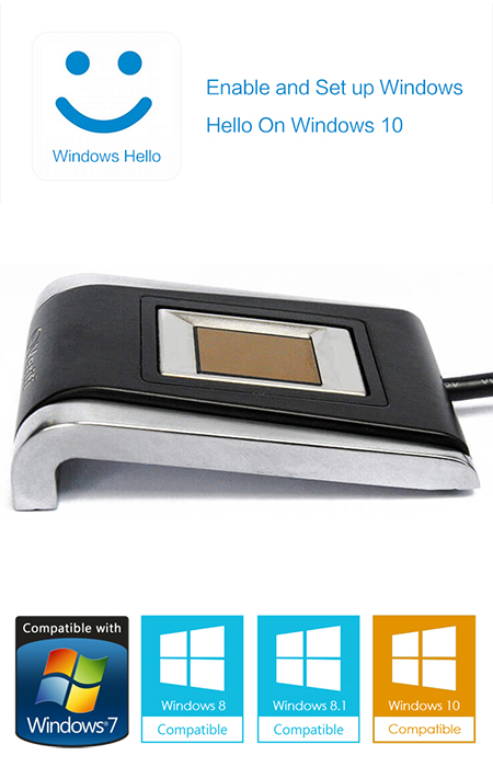 verifi p5100 metal fingerprint reader