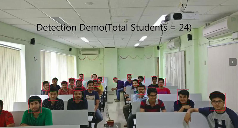 face recognition identify students