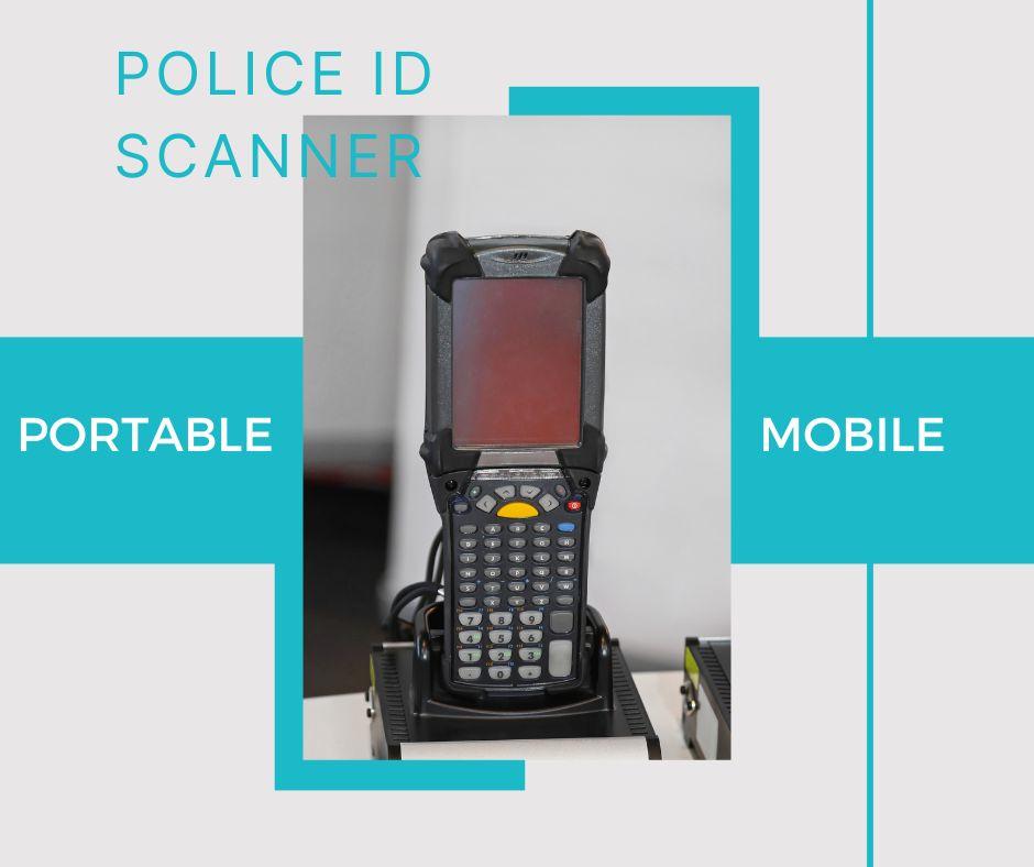 typical portable police fingerprint scanner