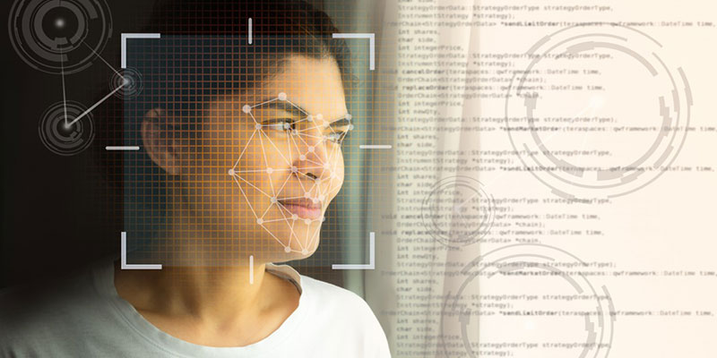 facial recognition wireframe