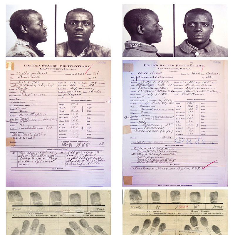 anthropometry and fingerprinting records