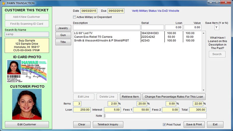 pawn shop software