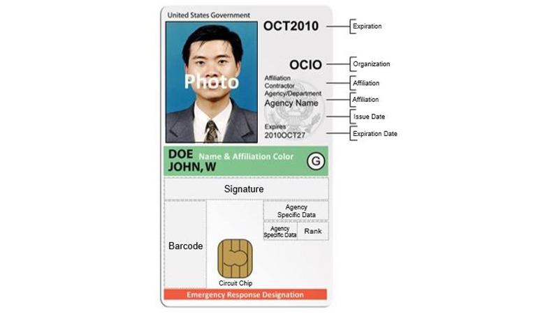 specimen smart card
