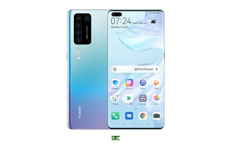 huawei p40 concept render