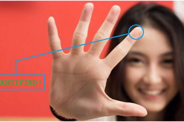 touch-less fingerprint recognition