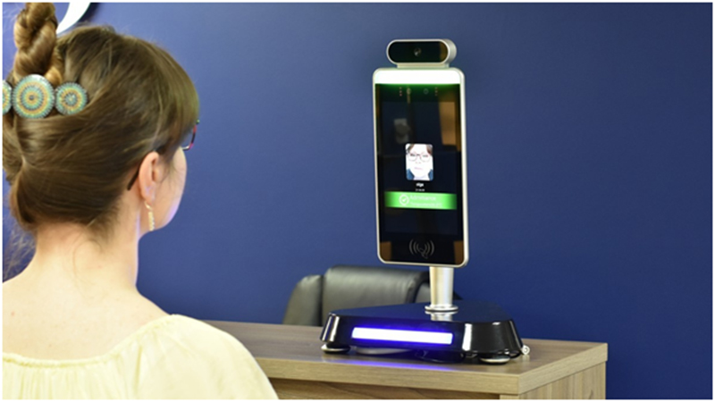 face recognition system with body temperature