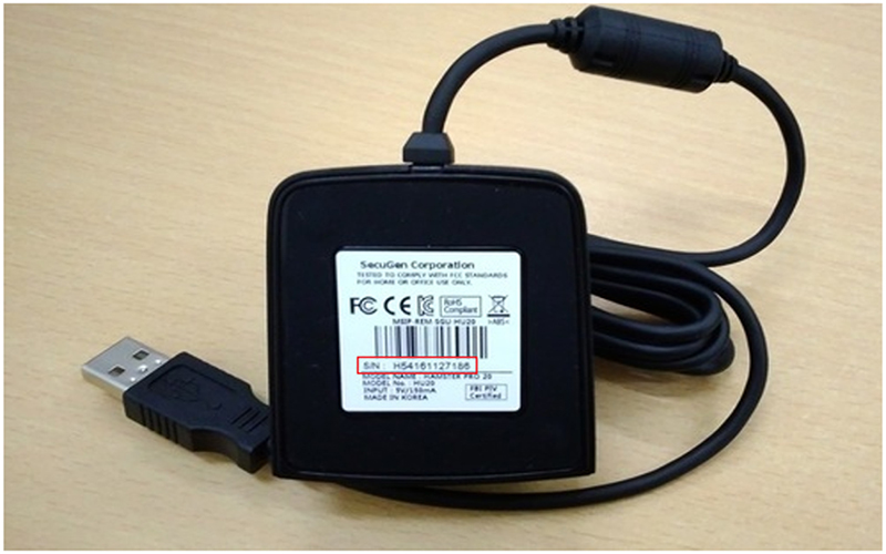 providing secugen device serial number