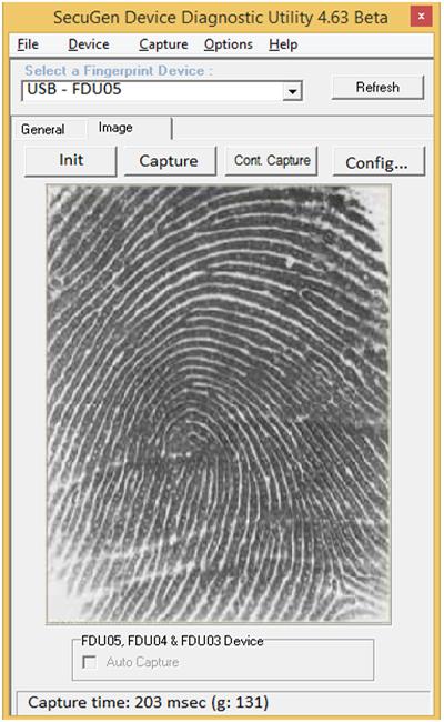 rd service fingerprint capture