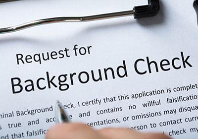 regular background check